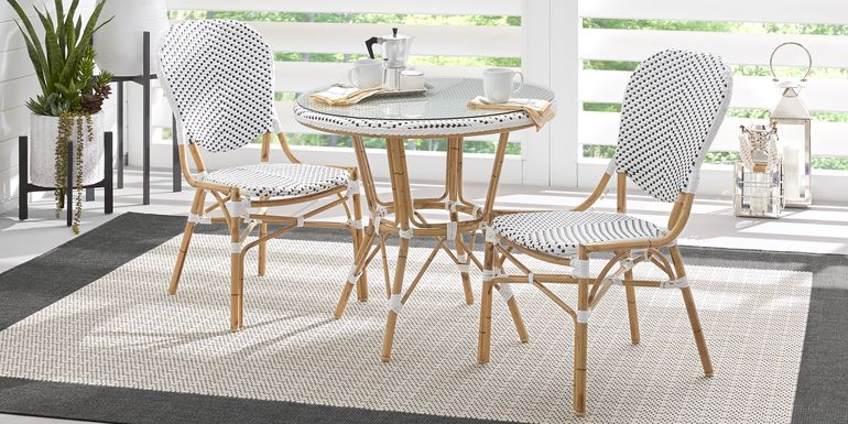 Juliette White 3 Pc Outdoor Dining Set