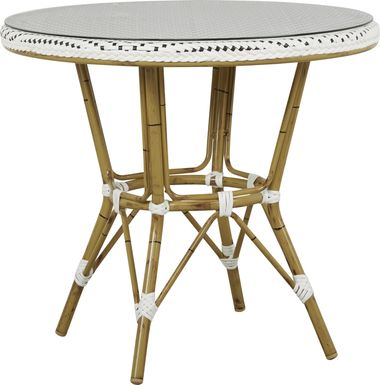 Juliette White 33 in. Round Outdoor Dining Table