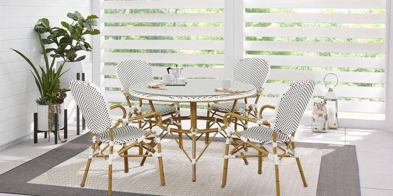 Juliette White 5 Pc Outdoor Dining Set
