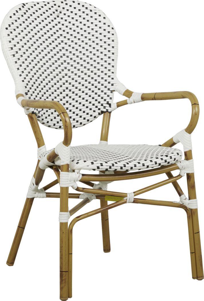 Juliette White Outdoor High Back Arm Chair