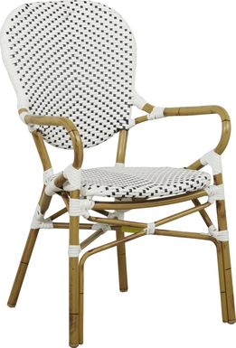 Juliette White Outdoor High Back Arm Chair