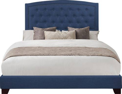Juneberry Blue Queen Upholstered Bed