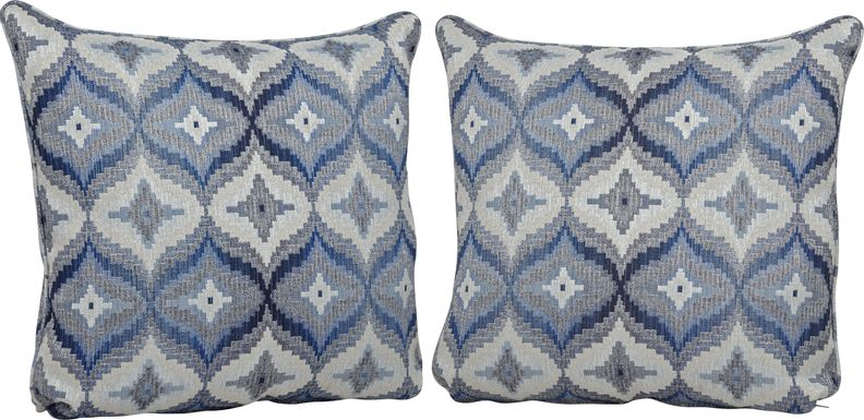 Justine Denim Blue Accent Pillows (Set of 2)