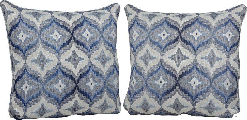 Justine Denim Blue Accent Pillows (Set of 2)