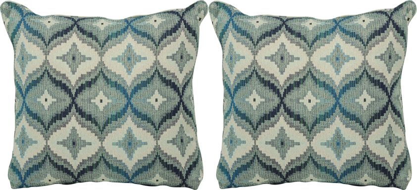 Justine Peacock Accent Pillow (Set of 2)