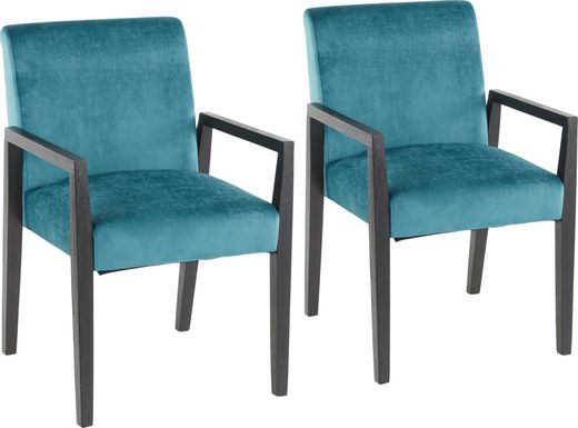 Kadleston Blue Arm Chair, Set of 2