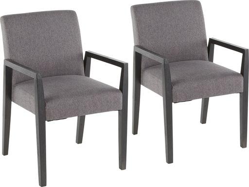 Kadleston Gray Arm Chair, Set of 2