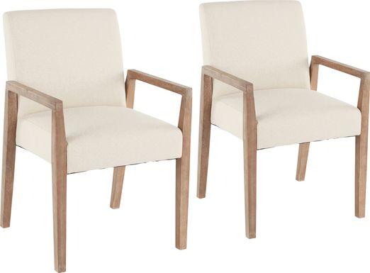 Kadleston II Beige Arm Chair, Set of 2