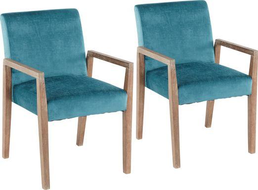 Kadleston II Blue Arm Chair, Set of 2