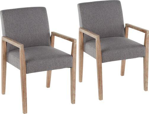 Kadleston II Gray Arm Chair, Set of 2