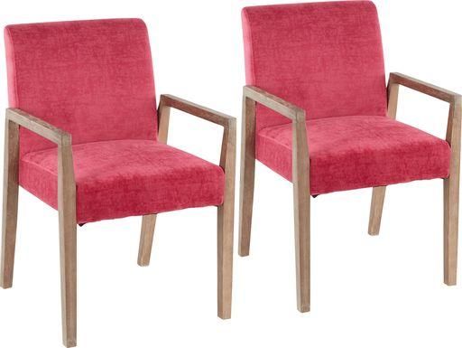 Kadleston II Pink Arm Chair, Set of 2