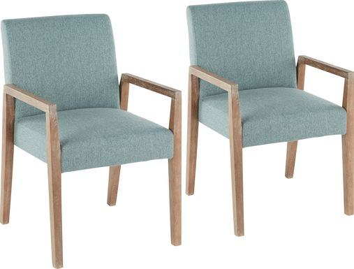 Kadleston II Teal Arm Chair, Set of 2
