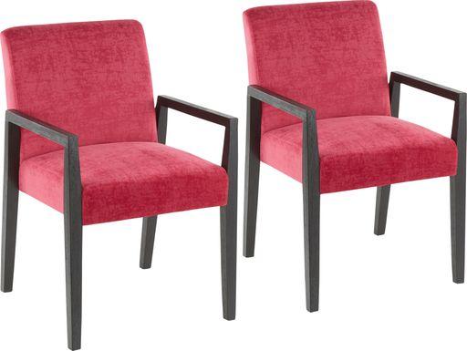 Kadleston Pink Arm Chair, Set of 2