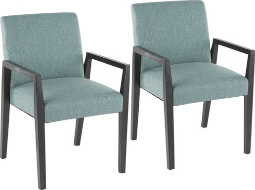 Kadleston Teal Arm Chair, Set of 2