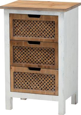Kaen White Oak Accent Cabinet