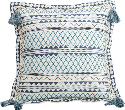 Kaline Blue Decorative Pillow