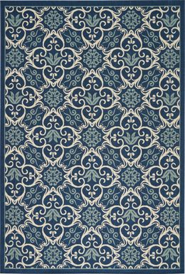 Kamia Navy 8' x 11' Indoor/Outdoor Rug