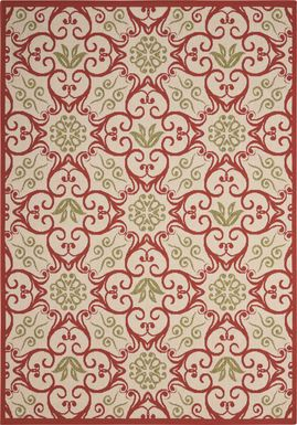 Kamia Rust 8' x 11' Indoor/Outdoor Rug