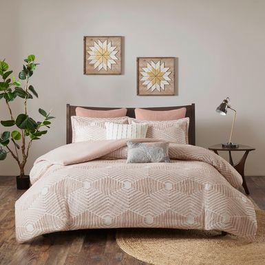 Katara Blush 3 Pc Queen Comforter Set