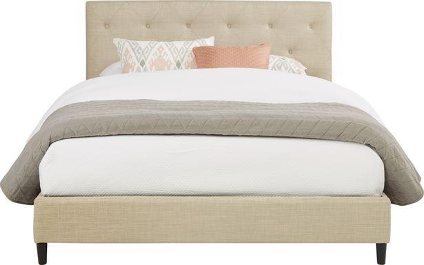Kaylan Beige 3 Pc Queen Upholstered Bed