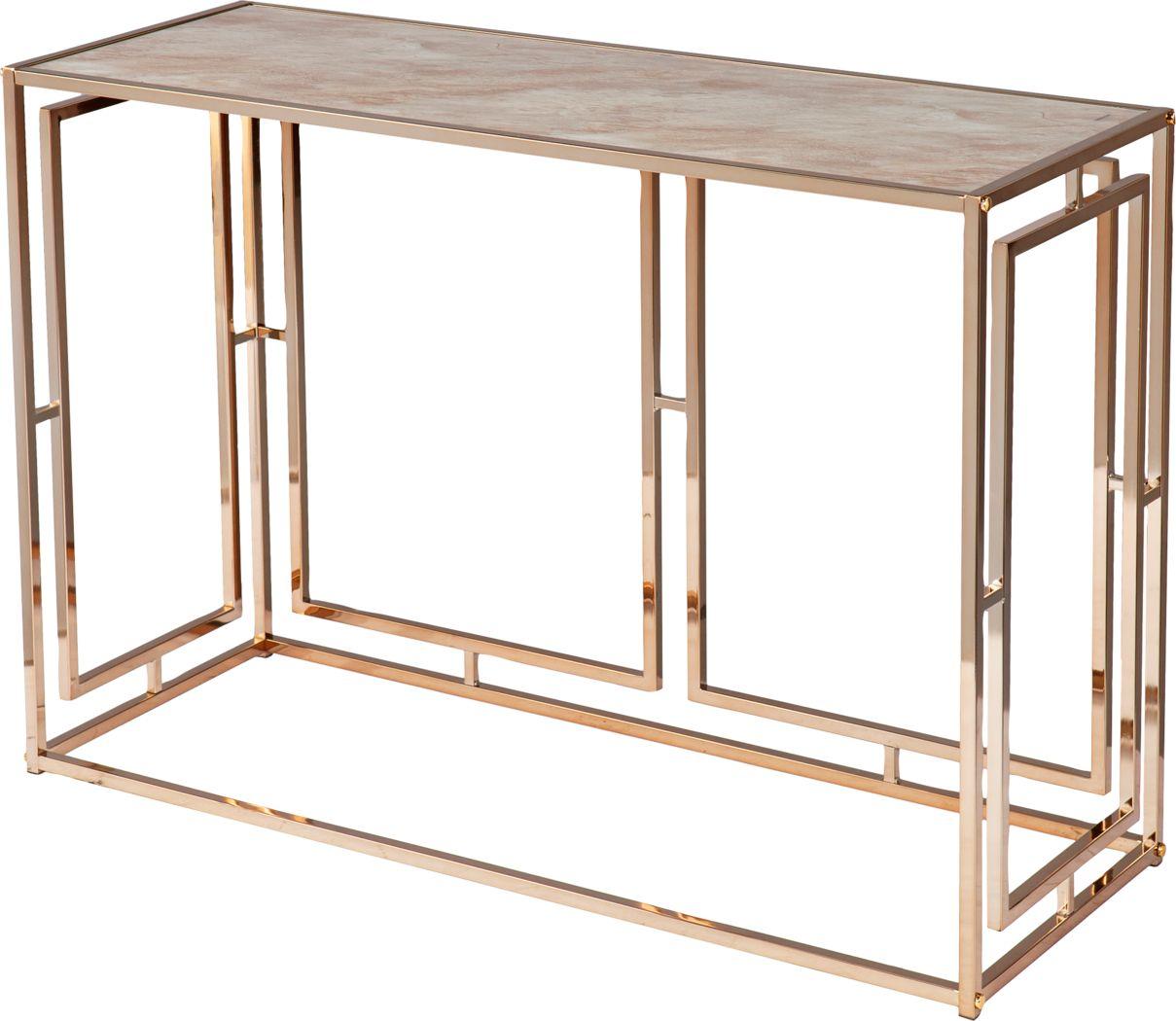 Kayview Gold Sofa Table