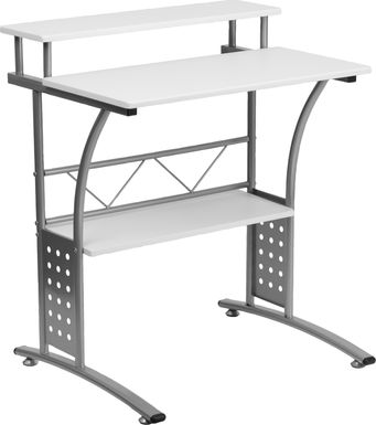 Keagon White Desk