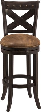 Keble Brown Swivel Counter Height Stool