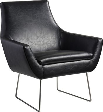 Keckler Black Accent Chair