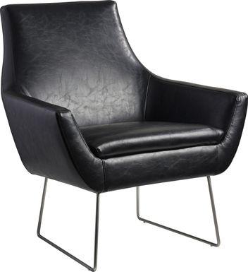 Keckler Black Accent Chair