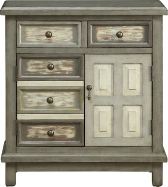 Keeley Gray Drawer Accent Cabinet