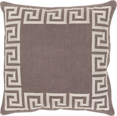 Keeper of the Keys Brown Accent Pillow
