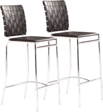 Keiko Black Counter Height Stool, Set of 2
