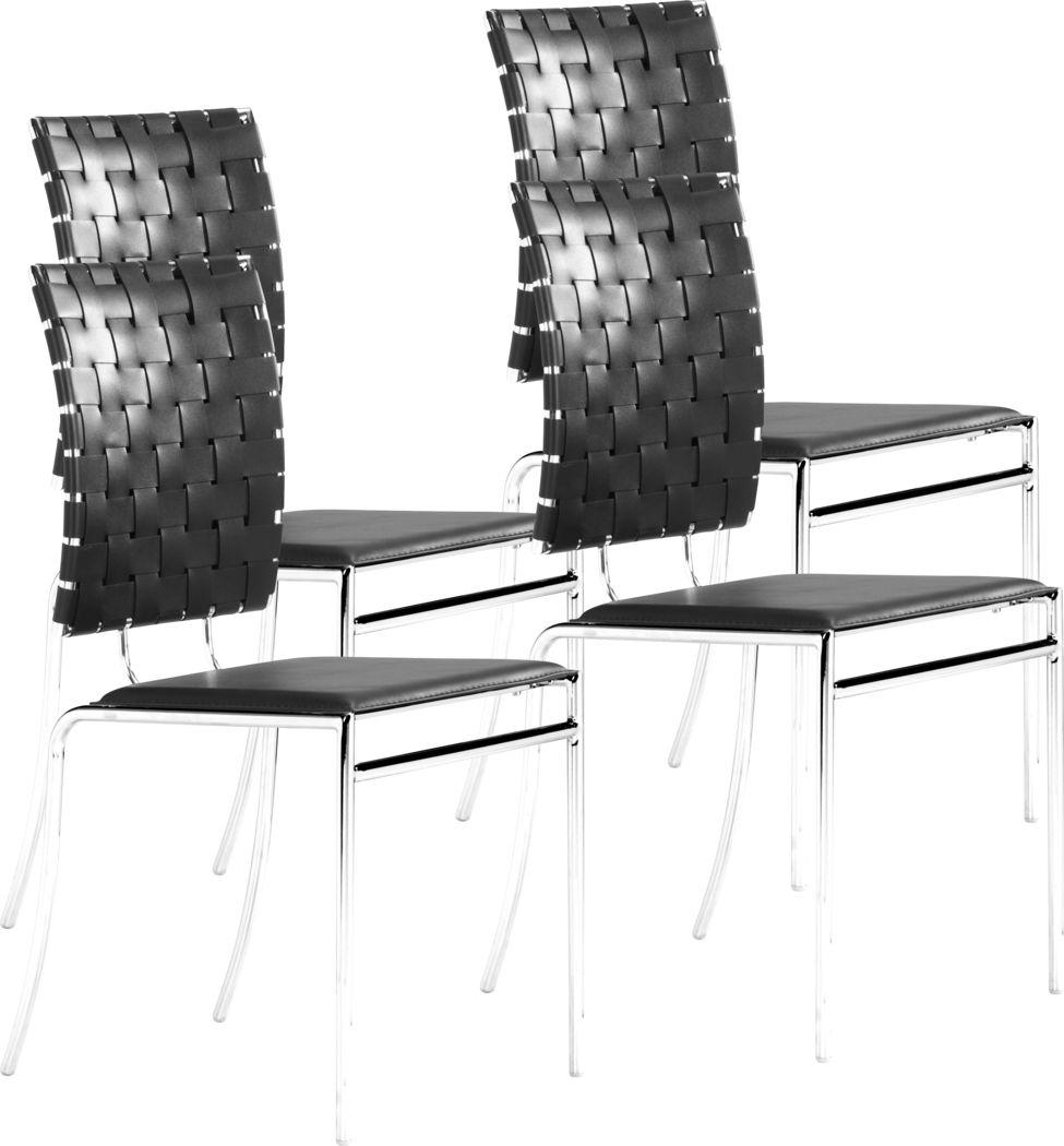 Keiko Black Side Chair, Set of 4