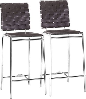Keiko Espresso Counter Height, Set of 2