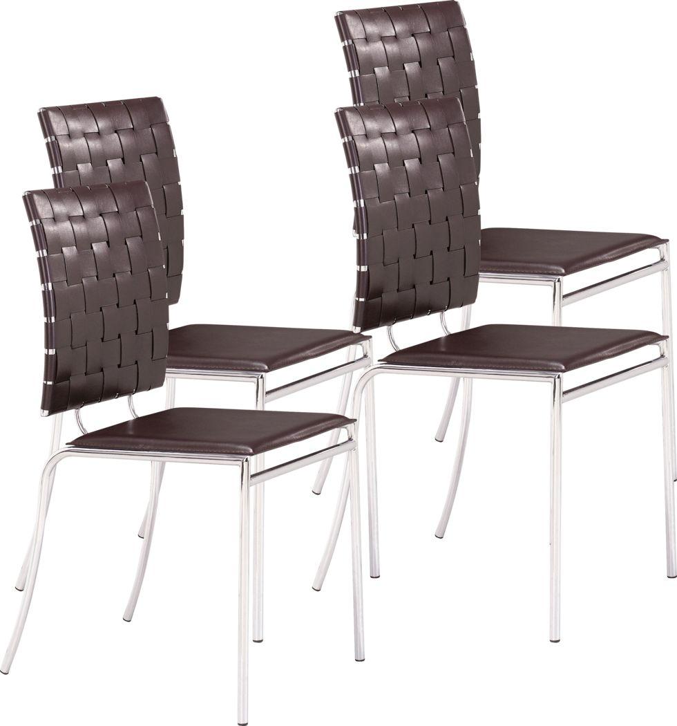 Keiko Espresso Side Chair, Set of 4