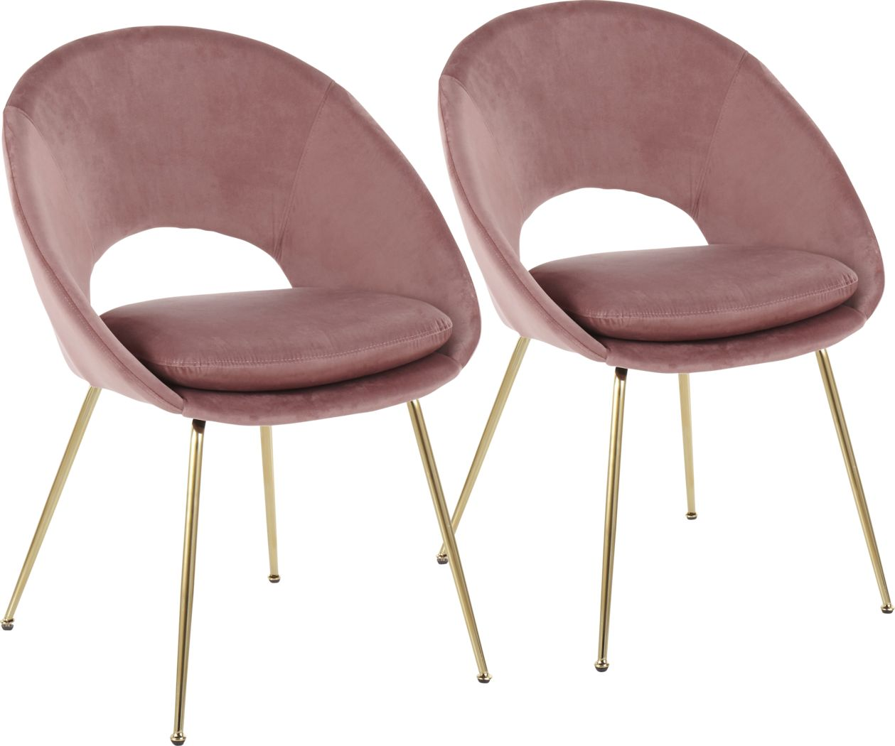 Kelann Blush Side Chair, Set of 2