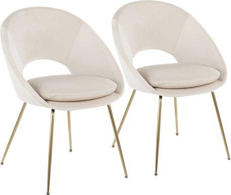 Kelann Cream Side Chair, Set of 2