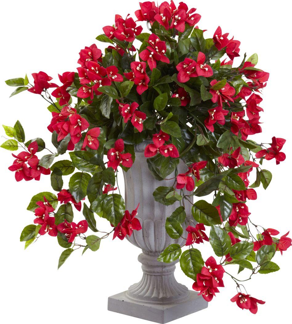Kelis Red Bougainvillea Indoor/Outdoor Silk Plant
