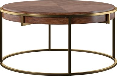 brown cocktail table