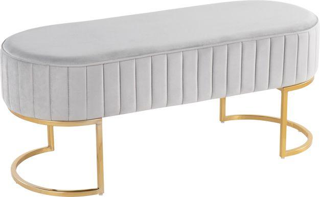Kelvington Silver Accent Bench