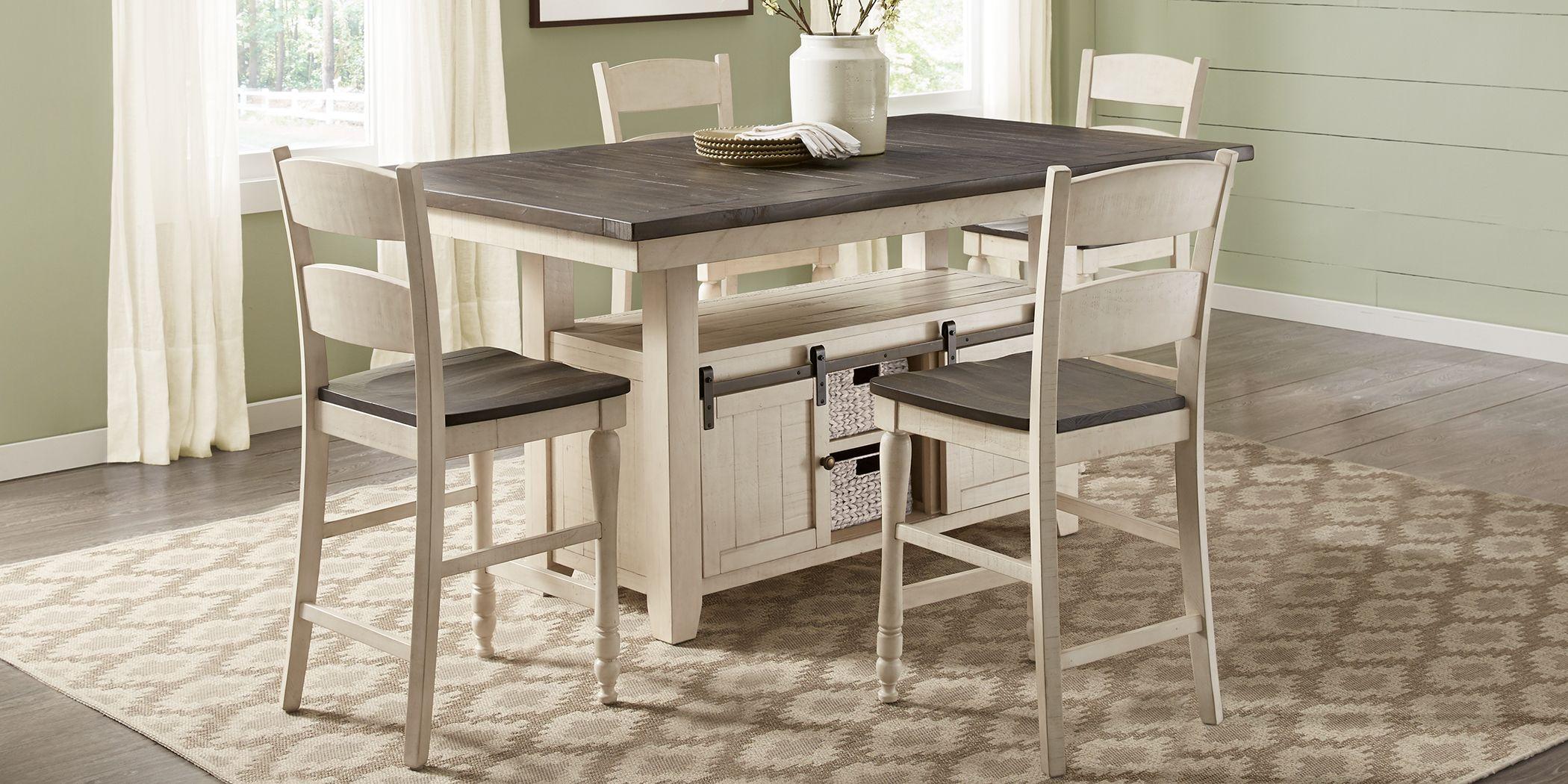 Kenbridge White 5 Pc Counter Height Dining Room
