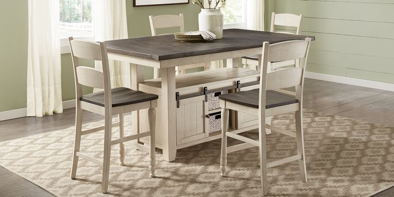Kenbridge White 5 Pc Counter Height Dining Room