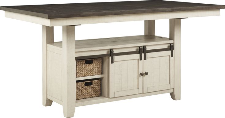 Kenbridge White Counter Height Dining Table