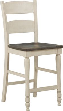 Kenbridge White Counter Height Stool