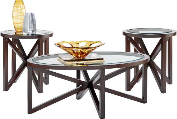 Kenshaw II Espresso 3 Pc Table Set