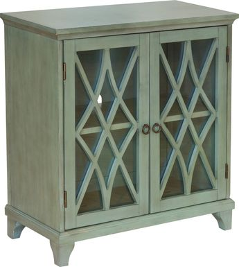 Kentland Green Accent Cabinet