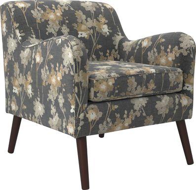 Kenvil Black Accent Chair