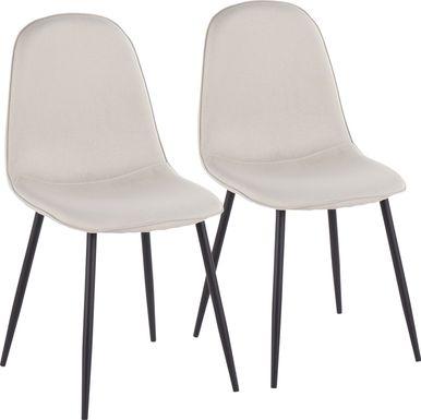 Kernack II Beige Side Chair, Set of 2