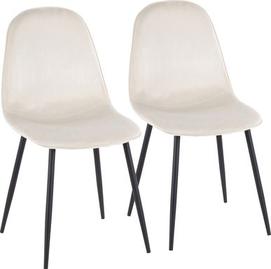 Kernack II Cream Side Chair, Set of 2