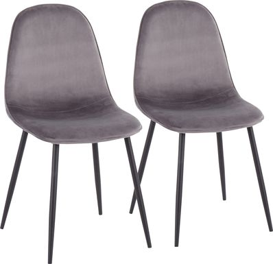 Kernack II Gray Side Chair, Set of 2
